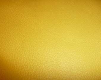 """Leather CLOSEOUT shade 8""""x10"""" DIVINE Lemon Yellow Top Grain Cowhide #159 2.5 oz / 1mm  PeggySueAlso™"""