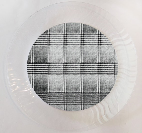 Il_570xn & Black Tweed Plastic Plates - Set of 12 by When I Was Your Age ...