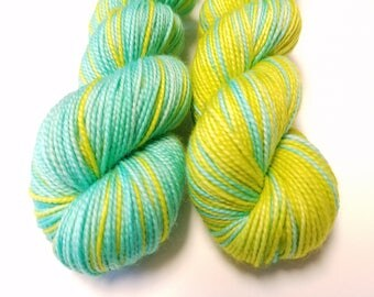 Pool Side...Twisted Sisters, Self Striping, 80/20 Superwash Fingering Sock Weight