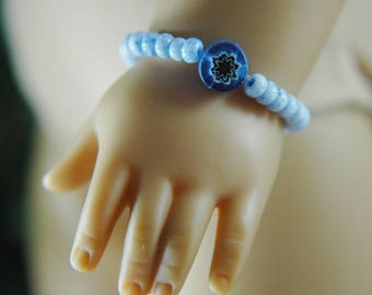 Doll, bracelet, american, made, girl, doll jewelry, accessories, 18 inch doll, blue, flower bead