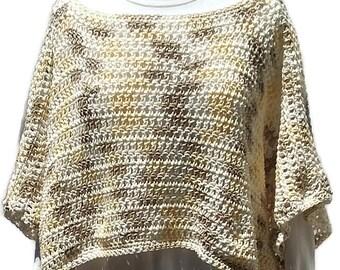 Yellow Poncho, Springtime Poncho, Boho Chic, Gift for Her, Crochet Poncho, Women Poncho, Multicolor, Stylish Poncho, Women Accessory