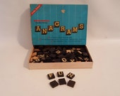Vintage Board Game Anagram Word Game Tiled Letter Scrabble Like Game Boxed Alphabet Tiles DYI Jewelry Craft Supplies