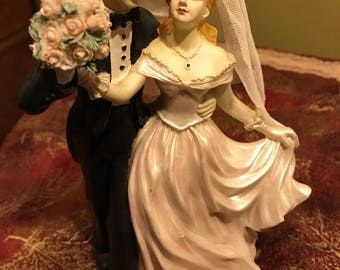 Vintage Bride and Groom Figurine