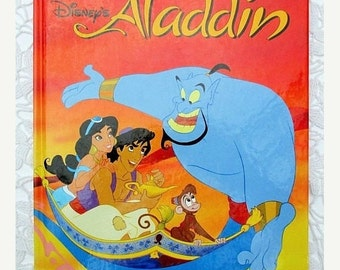 HOLIDAY SALE 20% Off Walt Disney's Aladdin, 1990s Collectible Children's Book
