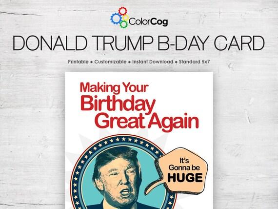 Crafty image with regard to donald trump birthday card printable