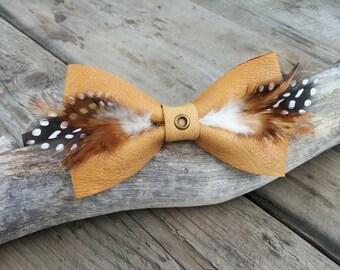 Groomsmen Ties   Men's Bow Ties   Cool Ties   Feather Tie   Wedding Bow Tie   Leather Bow Tie   Feather Bow Tie   Pre-Tied Bow Tie