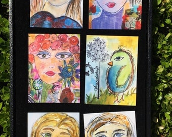 Little art Trading cards 3x4 on glossy cardstock - fun to collect