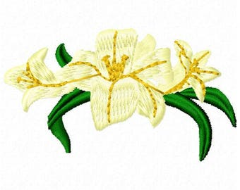 Lily Embroidery Design - Instant Download