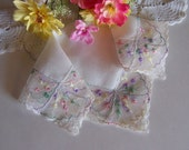 Wedding Handkerchief Mother of the Bride Gift, Happy Tears Lace Hanky in Pastel Colors, Something Old Wedding Shower Gift