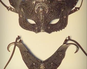 Gothic Cat  mask & collar