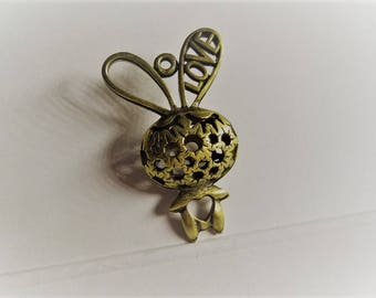 44mm*26MM 1CT. Brass Bunny Pendant, Y62