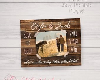 Save the Date/ Invitations: Wood, Country, Barn, Photo, Horses, Fall. Samples/Digital Files/Printing Available