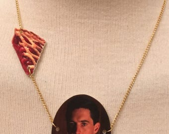 Gold-Plated Handmade Twin Peaks Agent Dale Cooper Necklace