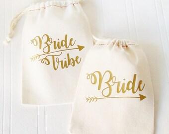Bride Tribe Gift Bag, Bride Tote Bag, Bachelorette Party, Bridal Shower, Wedding Suvival Kit, Hangover Kit,