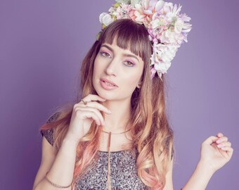 Pastel Halo Floral Crown