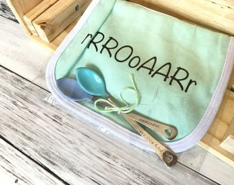 Bib Set- | Dinosaur | Baby Bib | Infant | Baby spoon | Dinos