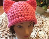 Power Pussy Cat Crochet Beanie Toque Hat Fundraiser
