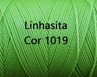 Linhasita Lime Green COR 1019/ Waxed Polyester Cord/ Hilo/ Jewelry Supply/ string