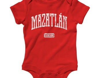 Baby One Piece - Mazatlan Mexico - Infant Romper - NB 6m 12m 18m 24m - Baby Shower Gift, Mazatleca, Mazatlan Baby, Sinaloa, Sinaloense, Bebe