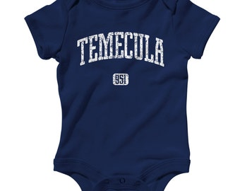 Baby One Piece - Temecula 951 Infant Romper - NB 6m 12m 18m 24m - Baby Shower Gift, Temecula Baby,  951 Area Code Baby, Riverside County