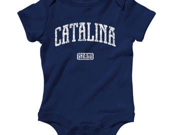 Baby One Piece - Catalina Island California Infant Romper - NB 6m 12m 18m 24m - Baby Shower Gift, Santa Catalina Baby, Avalon Baby, Tourism