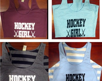 Field Hockey Girls Racerback Tank Tops