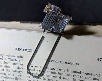 Bismuth Crystal Paperclip Bookmark