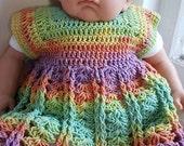 Crochet handmade baby dress 0-3 months