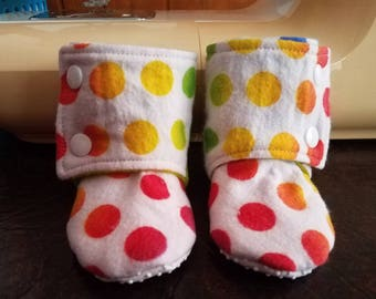 Stay-On Slippers (size 6-9 months)