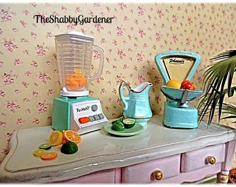 Kitchen Ware 1/12th - Pastel Shade of Blue