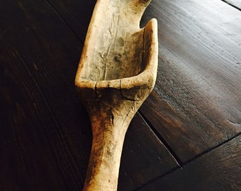 Primitive Yoke wooden art antique wood tool driftwood