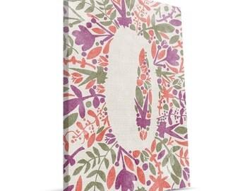 Floral Monogram O 8x12 Canvas Print