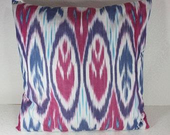 Cotton Ikat Pillow, Ikat Pillow Cover,  C150, Ikat throw pillows, Designer pillows, Decorative pillows, Accent pillows