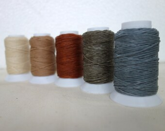 5x32.8yards small spools/Waxed cotton cord/1.00mm/total150meters