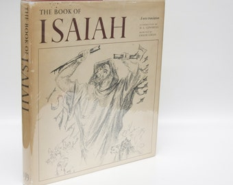 "Illustrated Book ""The Book of Isaiah"" First Edition (1973) Drawings by Chaim Gross 