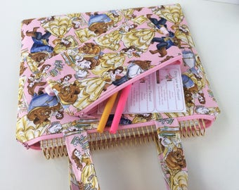 Planner pouch, pen pouch, Beauty and the beast