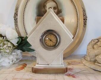 Vintage French art deco ceramic clock.
