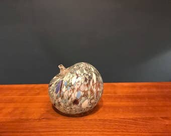 Speckled glass apple