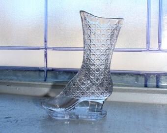 Antique Findlay Glass Boot Bouquet Holder Circa 1886