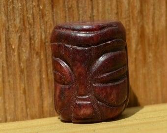 Red agate Buddha face bead  DB099