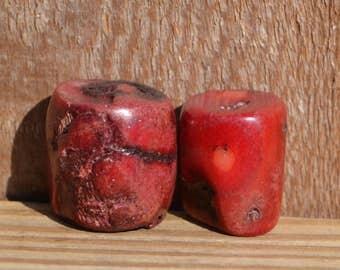 Beautiful chunky coral pendant beads  SH162