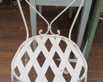Shabby Vintage Garden Chair Farmhouse Chic Prairie BOHO Bohemian Primitive