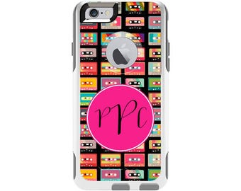Cassette Tape Personalized Custom Otterbox Commuter Case for iPhone 6 and iPhone 6s