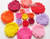 Felt Flower Shapes Unassembled, Die Cut Shapes, Applique, Confetti, Party Supply, DIY Wedding