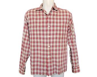Men's Vintage Shirt // 1950's Plaid Shirt // Vintage 50's Shirt // Vintage McGregor Shirt // Galey & Lord Fabric