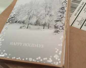 "Happy Holidays 5x7"" Greeting Cards 6-Pack"