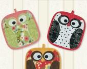 Pot Holders Pattern Night Owls by Legacy Patterns #93-4772