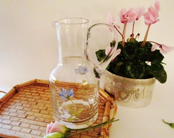 Vintage Laura Ashley Pitcher, Water Pitcher, English Country, Hand Painted Pitcher, Juice Pitcher, Cottage Chic
