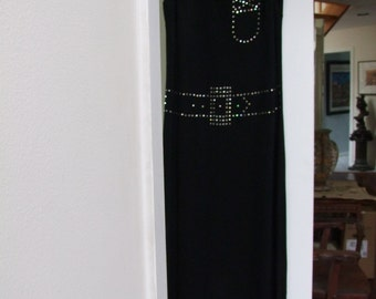 Vintage black and Rhinestone Maxi from 1960s