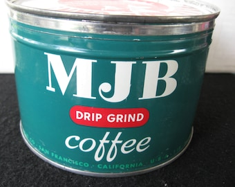 Vintage MJB Coffee Tin..Key Wind